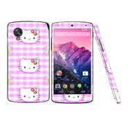 Snooky 39164 Digital Print Mobile Skin Sticker For LG Google Nexus 5 - Pink