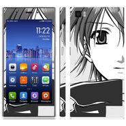 Snooky 39194 Digital Print Mobile Skin Sticker For Xiaomi Mi3 - Gray