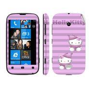 Snooky 39223 Digital Print Mobile Skin Sticker For Nokia Lumia 510 - Purple