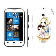 Snooky 39229 Digital Print Mobile Skin Sticker For Nokia Lumia 510 - White