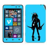 Snooky 39262 Digital Print Mobile Skin Sticker For Nokia Lumia 625 - Blue