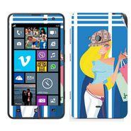 Snooky 39263 Digital Print Mobile Skin Sticker For Nokia Lumia 625 - Blue