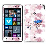 Snooky 39268 Digital Print Mobile Skin Sticker For Nokia Lumia 625 - White
