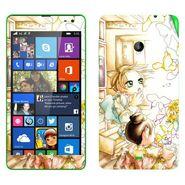 Snooky 39329 Digital Print Mobile Skin Sticker For Microsoft Lumia 535 - White