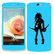 Snooky 39370 Digital Print Mobile Skin Sticker For OPPO N1 - Blue