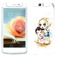 Snooky 39373 Digital Print Mobile Skin Sticker For OPPO N1 - White