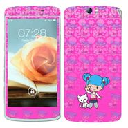 Snooky 39375 Digital Print Mobile Skin Sticker For OPPO N1 - Pink