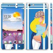Snooky 39383 Digital Print Mobile Skin Sticker For OPPO R1 R829t  - Blue