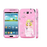 Snooky 39420 Digital Print Mobile Skin Sticker For Samsung Galaxy Grand Quattro 8552 - Pink