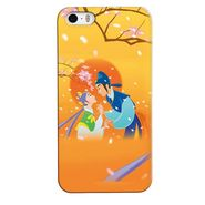 Snooky 35087 Digital Print Hard Back Case Cover For Apple iPhone 4s   - Orange