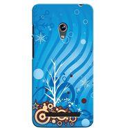 Snooky 36142 Digital Print Hard Back Case Cover For Asus Zenphone 5 - Blue