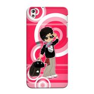 Snooky 37279 Digital Print Hard Back Case Cover For HTC Desire 816 - Rose Pink