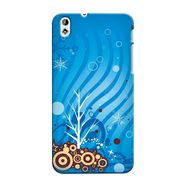 Snooky 37312 Digital Print Hard Back Case Cover For HTC Desire 816 - Blue