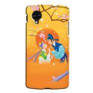 Snooky 35948 Digital Print Hard Back Case Cover For LG Google Nexus 5 - Orange