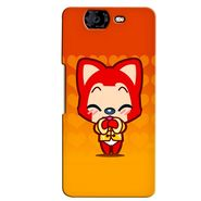 Snooky 35430 Digital Print Hard Back Case Cover For Micromax Canvas Knight A350 - Orange