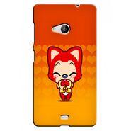 Snooky 38061 Digital Print Hard Back Case Cover For Microsoft Lumia 535 - Orange