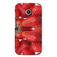 Snooky 35839 Digital Print Hard Back Case Cover For Motorola Moto E - Red