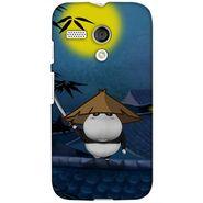 Snooky 38610 Digital Print Hard Back Case Cover For Motorola Moto G - Blue