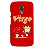 Snooky 38638 Digital Print Hard Back Case Cover For Motorola Moto G 2nd Gen - Red