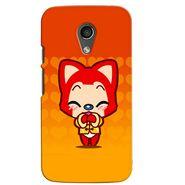 Snooky 38661 Digital Print Hard Back Case Cover For Motorola Moto G 2nd Gen - Orange