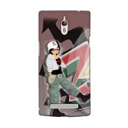 Snooky 36678 Digital Print Hard Back Case Cover For Oppo Find 7 - Brown