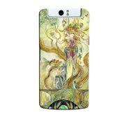 Snooky 36757 Digital Print Hard Back Case Cover For Oppo N1 - Green