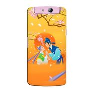 Snooky 36768 Digital Print Hard Back Case Cover For Oppo N1 Mini N5111 - Orange