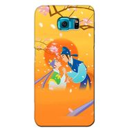 Snooky 36168 Digital Print Hard Back Case Cover For Samsung Galaxy S6 - Orange