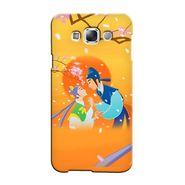 Snooky 36368 Digital Print Hard Back Case Cover For Samsung Galaxy A7 - Orange