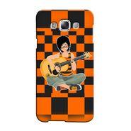 Snooky 36377 Digital Print Hard Back Case Cover For Samsung Galaxy A7 - Black