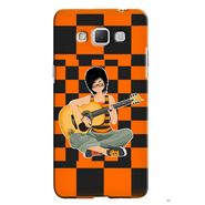 Snooky 36527 Digital Print Hard Back Case Cover For Samsung Galaxy Grand max - Black