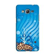 Snooky 36612 Digital Print Hard Back Case Cover For Samsung Galaxy Grand Prime - Blue