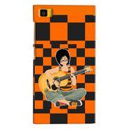 Snooky 38377 Digital Print Hard Back Case Cover For Xiaomi MI3 - Black