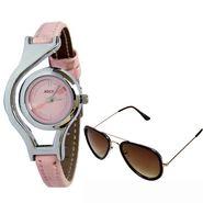 Combo of Analog Wrist Watch + Aviator Sunglasses_Combo54