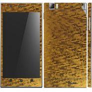 Snooky 18719 Mobile Skin Sticker For Lenovo K900 - Gold