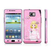 Snooky 39528 Digital Print Mobile Skin Sticker For Samsung Galaxy S2 I9100 - Pink