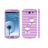 Snooky 39535 Digital Print Mobile Skin Sticker For Samsung Galaxy S3 I9300 - Purple