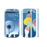 Snooky 39539 Digital Print Mobile Skin Sticker For Samsung Galaxy S3 I9300 - Blue