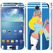 Snooky 39551 Digital Print Mobile Skin Sticker For Samsung Galaxy S4 I9500 - Blue