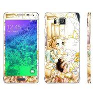 Snooky 39581 Digital Print Mobile Skin Sticker For Samsung Galaxy Alpha - White