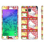 Snooky 39582 Digital Print Mobile Skin Sticker For Samsung Galaxy Alpha - Pink