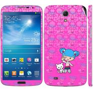 Snooky 39615 Digital Print Mobile Skin Sticker For Samsung Galaxy Mega 6.3 - Pink