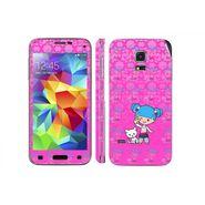 Snooky 39639 Digital Print Mobile Skin Sticker For Samsung Galaxy S5 Mini - Pink