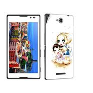 Snooky 39649 Digital Print Mobile Skin Sticker For Sony Xperia C / S39h - White