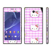 Snooky 39680 Digital Print Mobile Skin Sticker For Sony Xperia M2 Dual - Pink