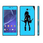Snooky 39682 Digital Print Mobile Skin Sticker For Sony Xperia M2 Dual - Blue