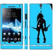 Snooky 39694 Digital Print Mobile Skin Sticker For Sony Xperia S - Blue