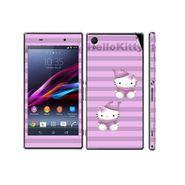 Snooky 39739 Digital Print Mobile Skin Sticker For Sony Xperia Z1 - Purple