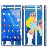 Snooky 39755 Digital Print Mobile Skin Sticker For Sony Xperia Z2 - Blue