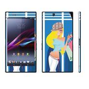 Snooky 39791 Digital Print Mobile Skin Sticker For Sony Xperia Z Ultra - Blue